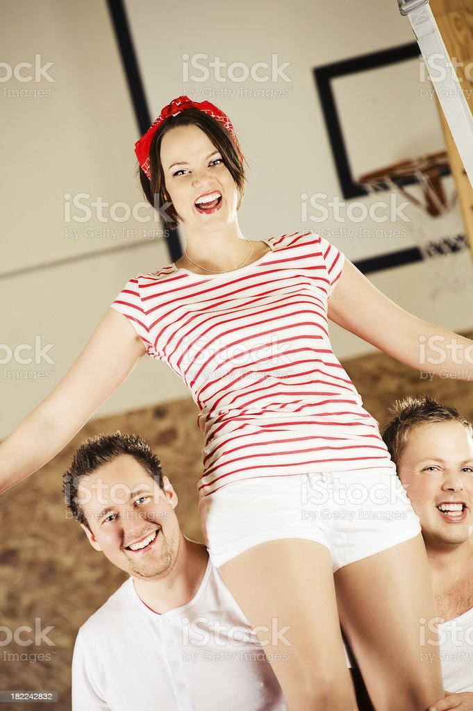 People playing with ball royalty-free stock photo