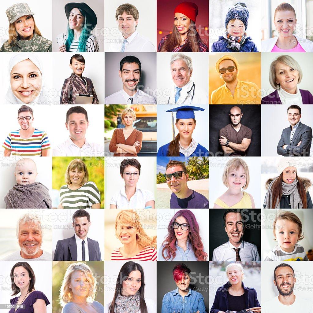 People portraits stock photo
