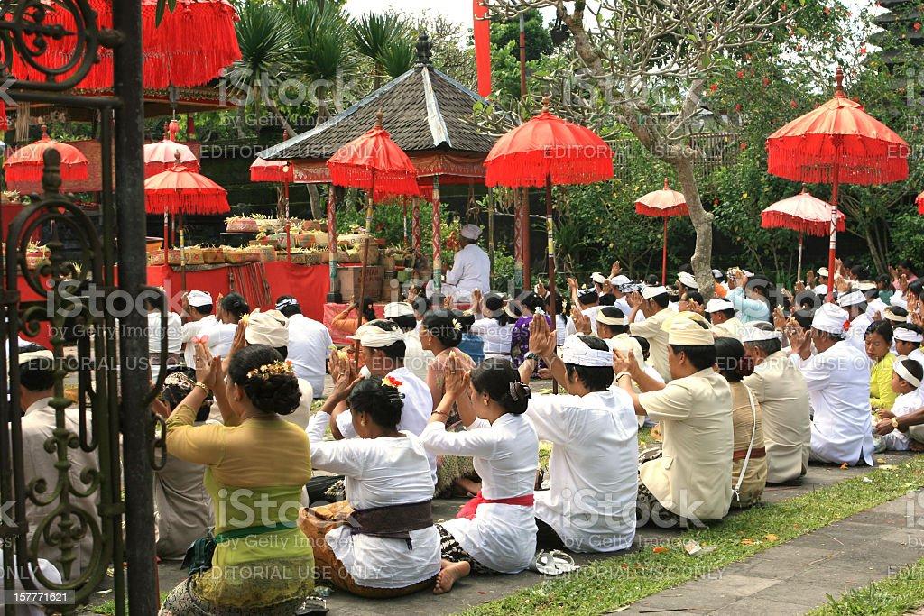 People Praying - Hindu Religious Festival stock photo