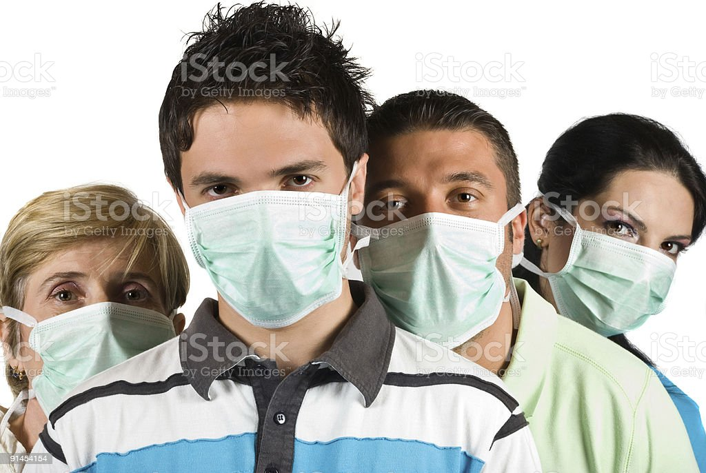 People protection flu wear protective mask royalty-free stock photo