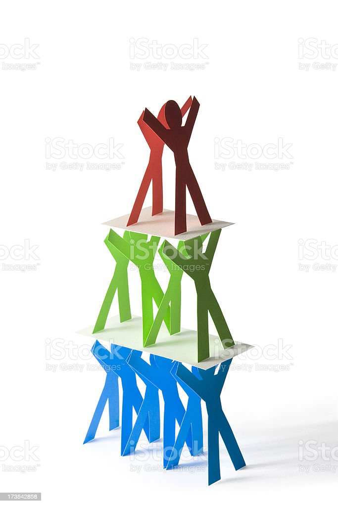 People pyramid royalty-free stock photo