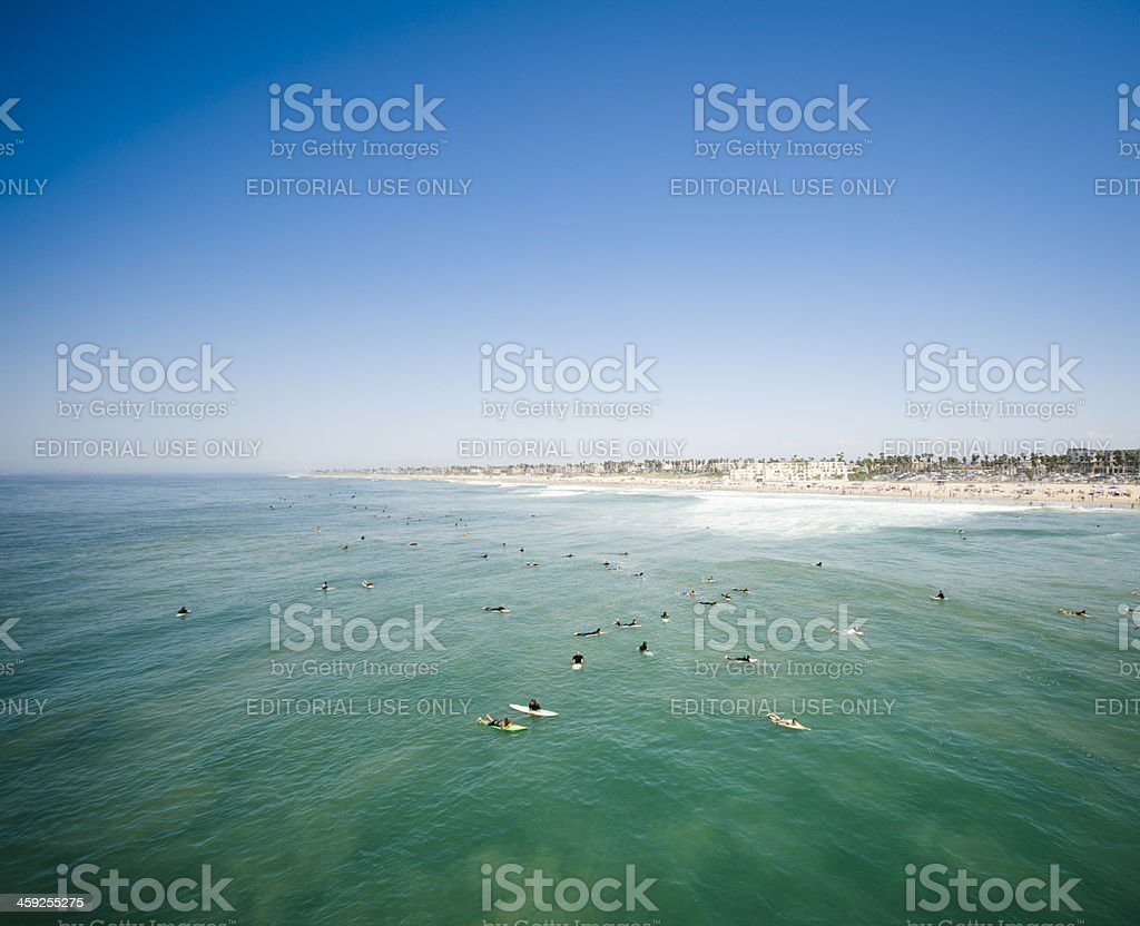 Huntington beach california stock photos and pictures getty images - People Reading To Catch The Waves California Royalty Free Stock Photo Only From Istock Huntington Beach