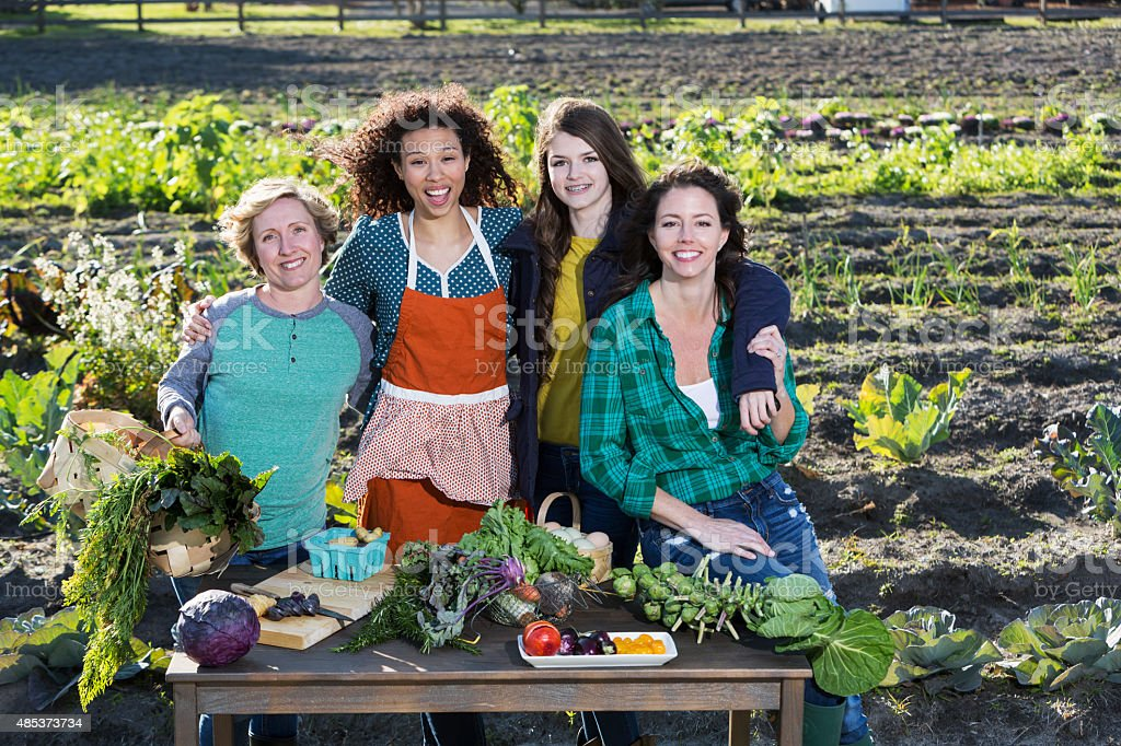 People representing farm-to-table movement stock photo
