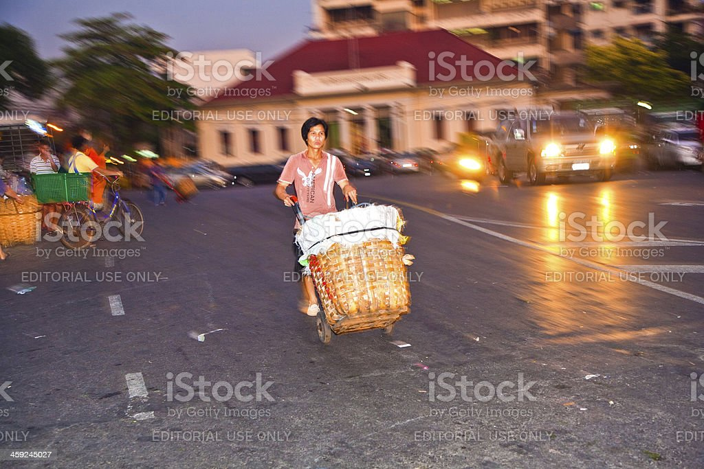 people returning from night market royalty-free stock photo