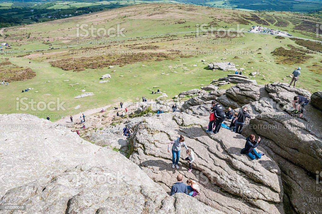 People Rock Climbing stock photo