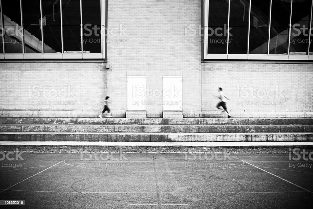 People running royalty-free stock photo