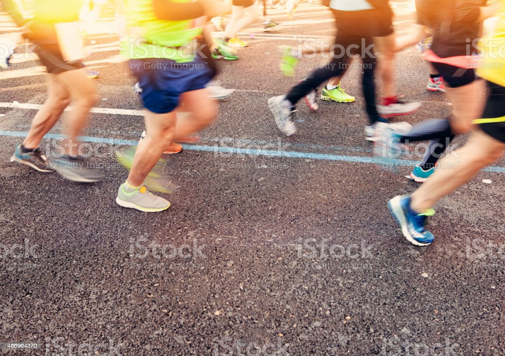 People running stock photo