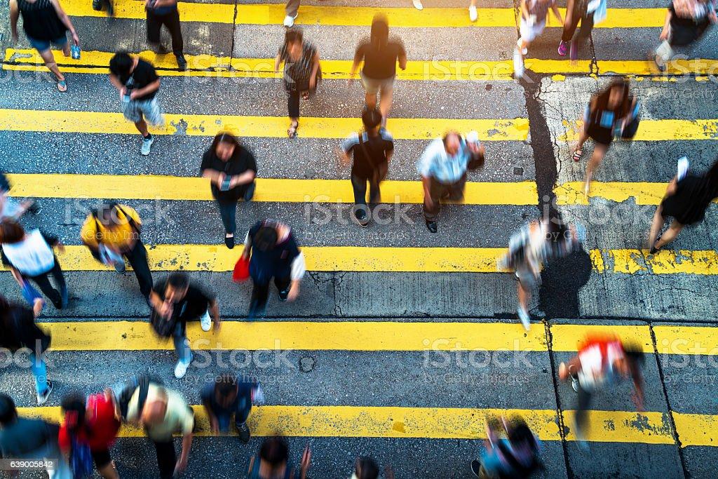 People Rush in  Hong Kong stock photo