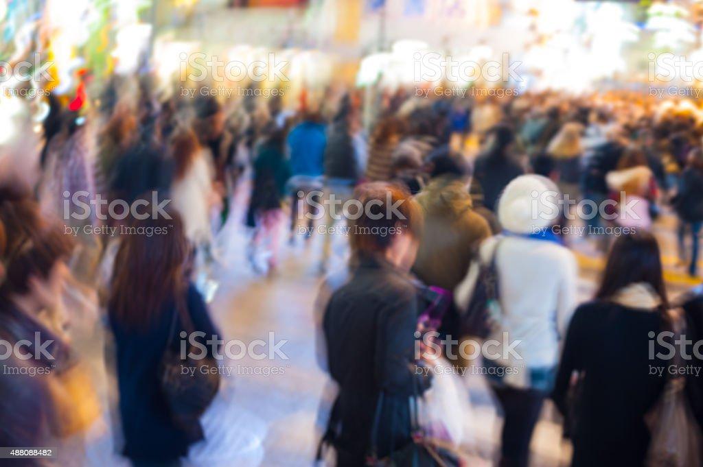 People rushing stock photo