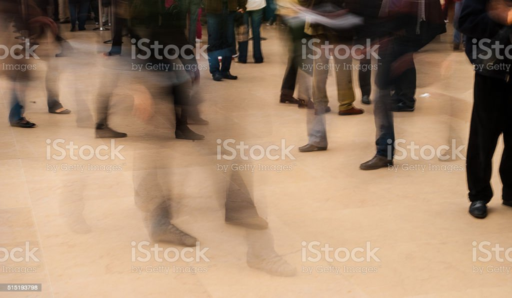 People Rushing stock photo