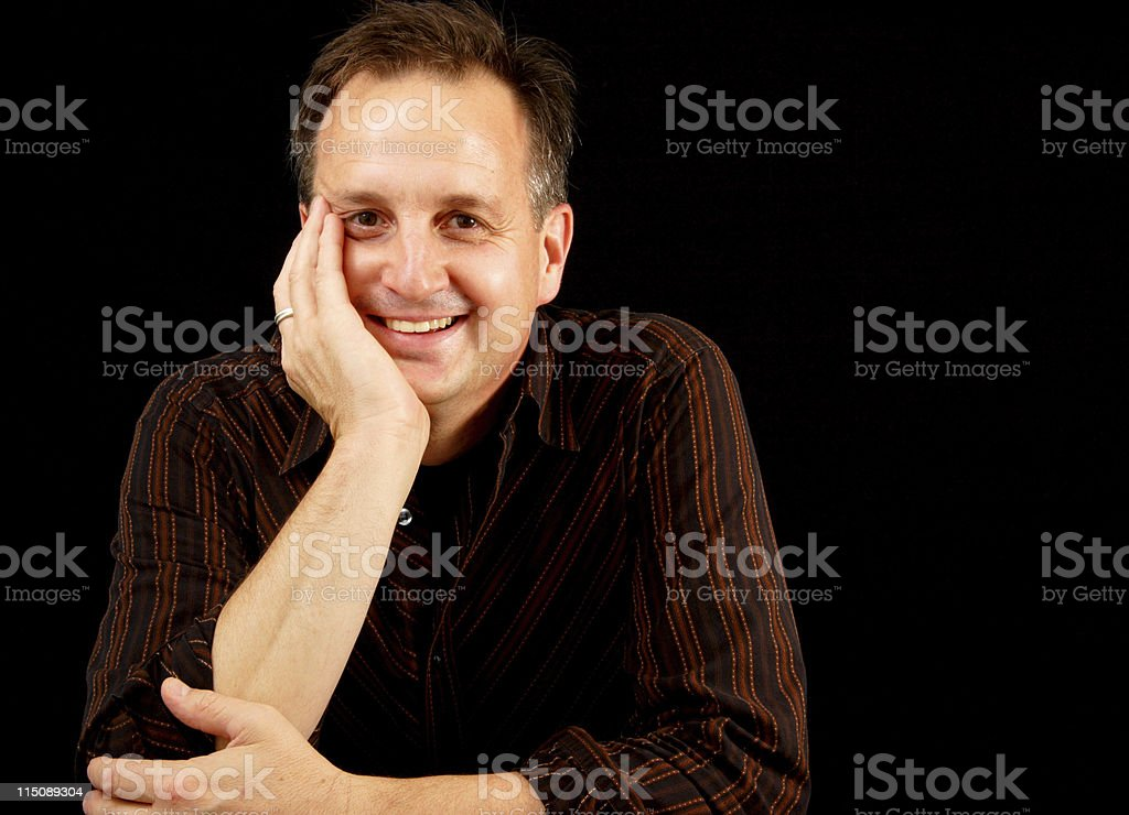 people scenes - happy adult male royalty-free stock photo