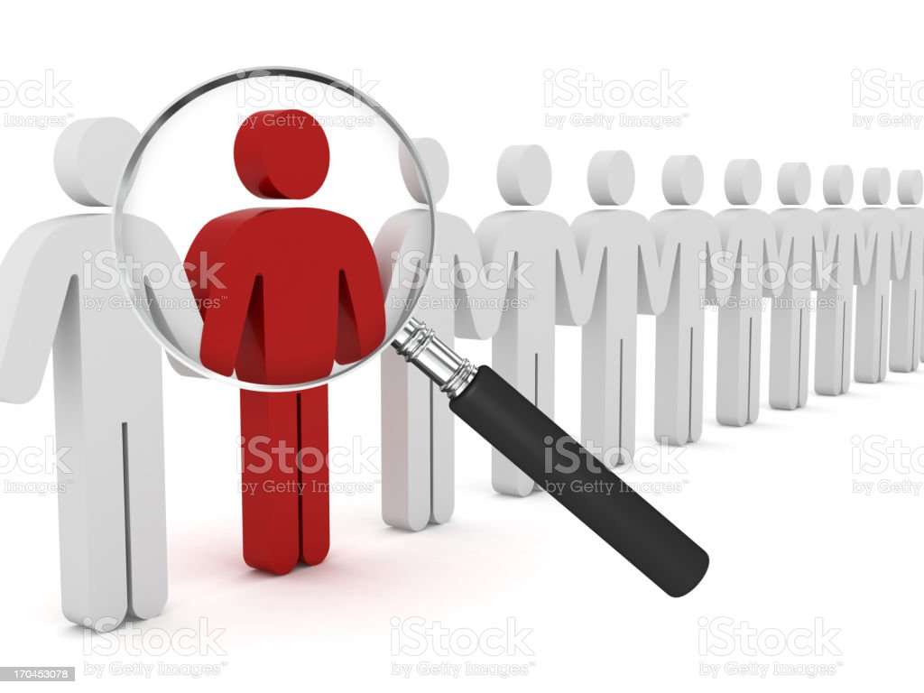 People Search royalty-free stock photo