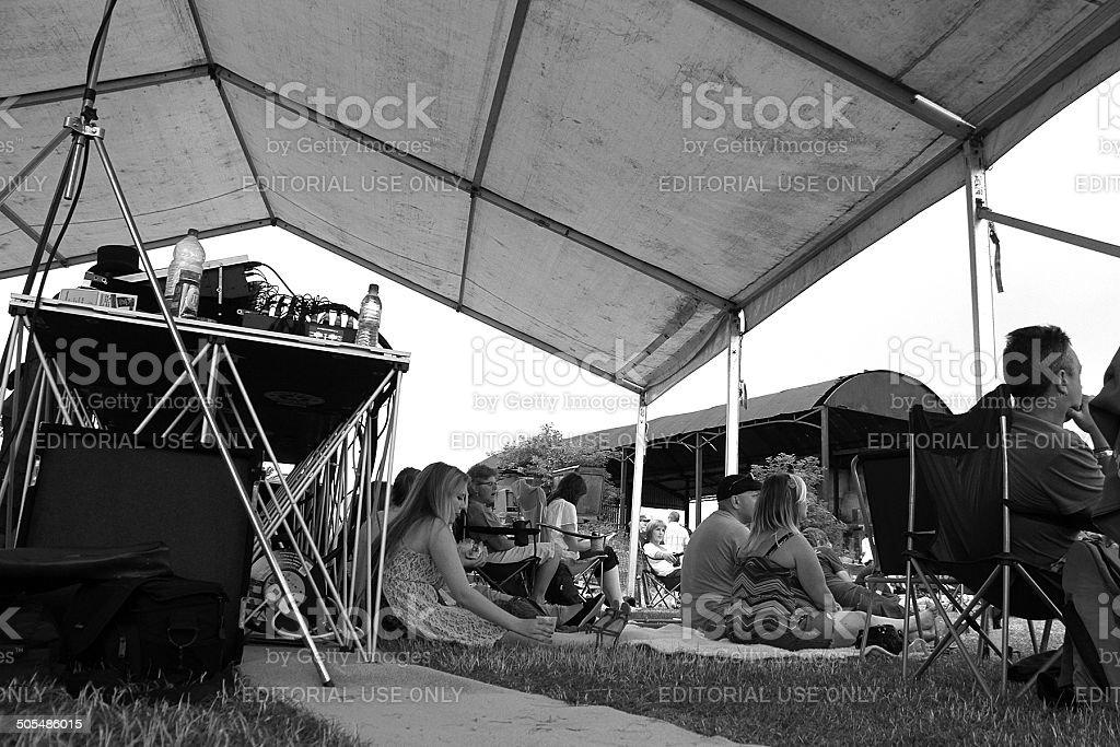 Persone in grado di accogliere fino a un Festival nel Gloucestershire, Regno Unito foto stock royalty-free