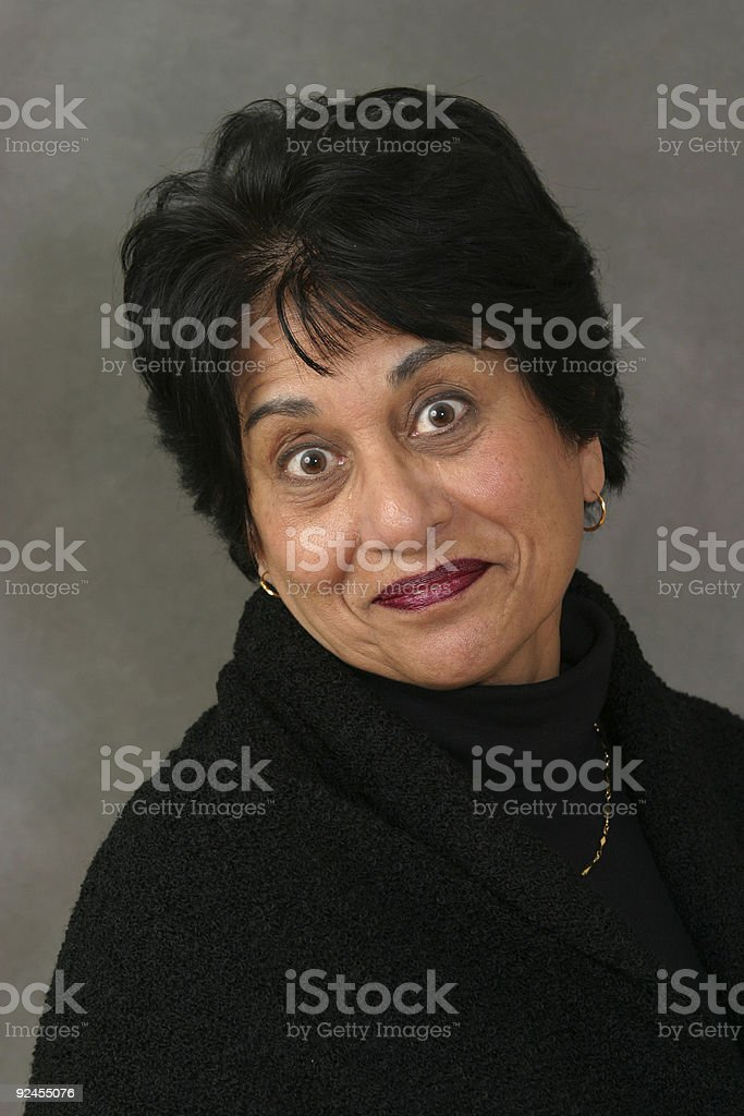 People - Senior East Indian Woman #02 royalty-free stock photo