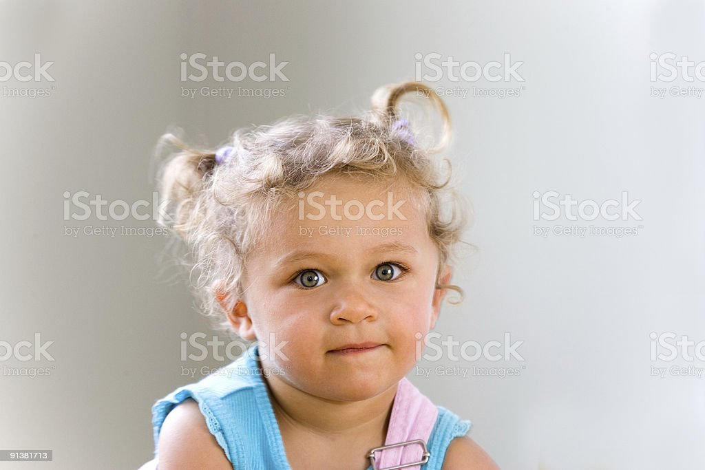 People - Serious Toddler stock photo