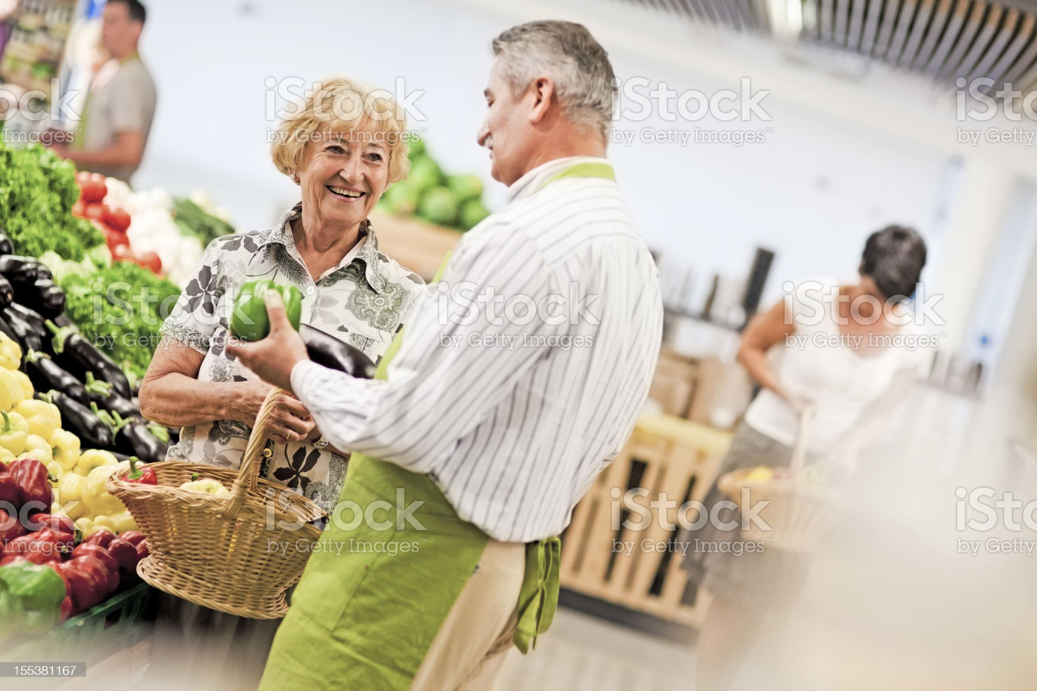 People Shopping In Produce Store royalty-free stock photo