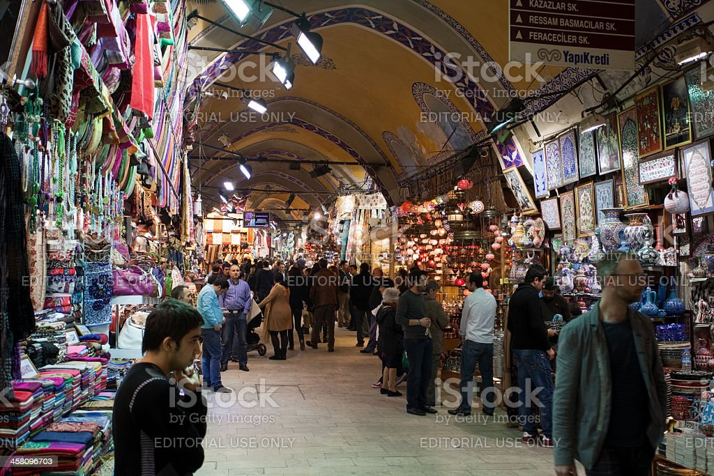 'People shopping in the Grand Bazaar, Istanbul' royalty-free stock photo