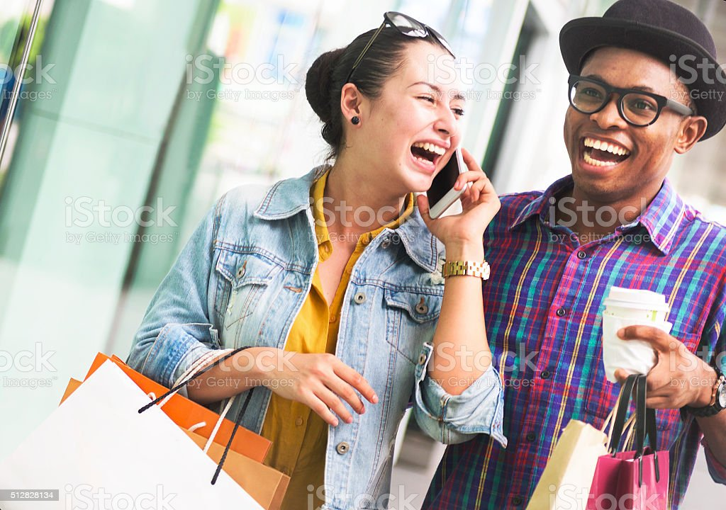 People Shopping Spending Customer Consumerism Concept stock photo