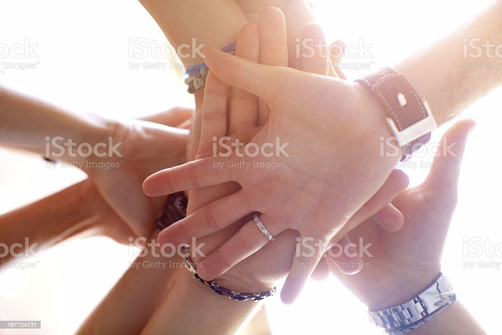 People showing unity royalty-free stock photo