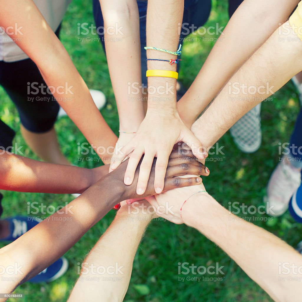 People showing unity stock photo