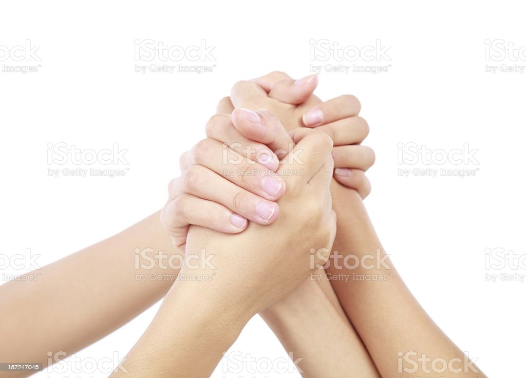 people showing unity-XXL royalty-free stock photo