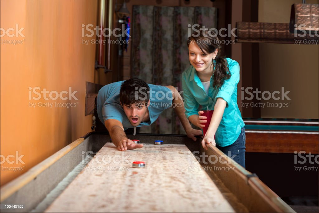 People: Shuffleboard surprise royalty-free stock photo