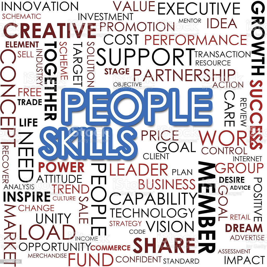 People skill word cloud stock photo