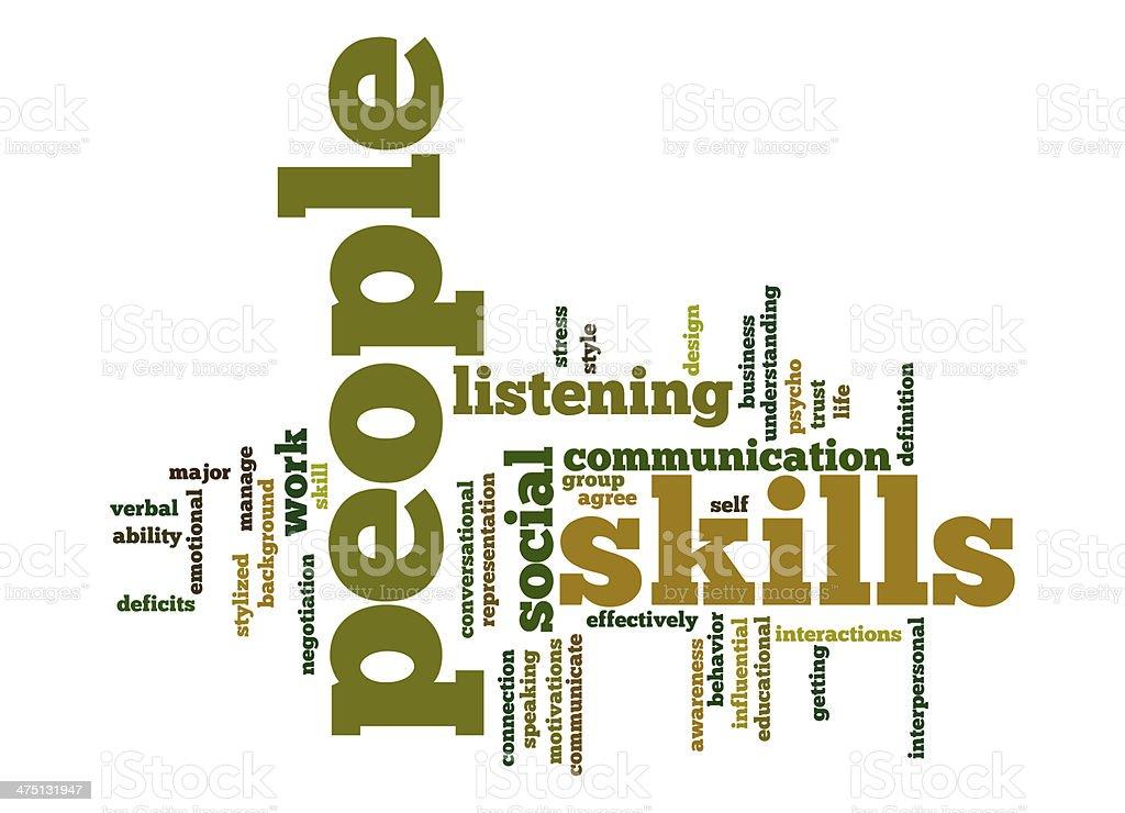 People skills word cloud stock photo