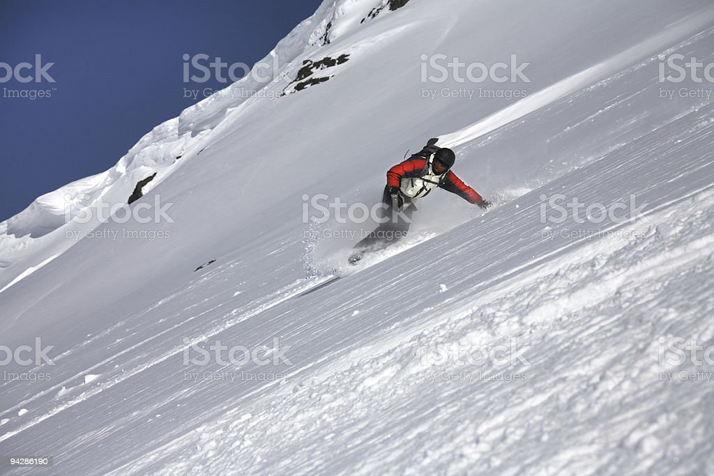 People - snowboarder stock photo
