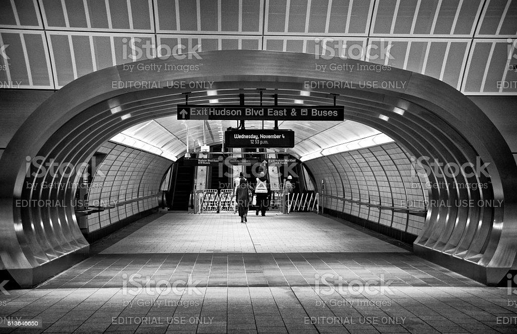 People, Subway Station at Hudson Yards, West Side, Manhattan, NYC stock photo