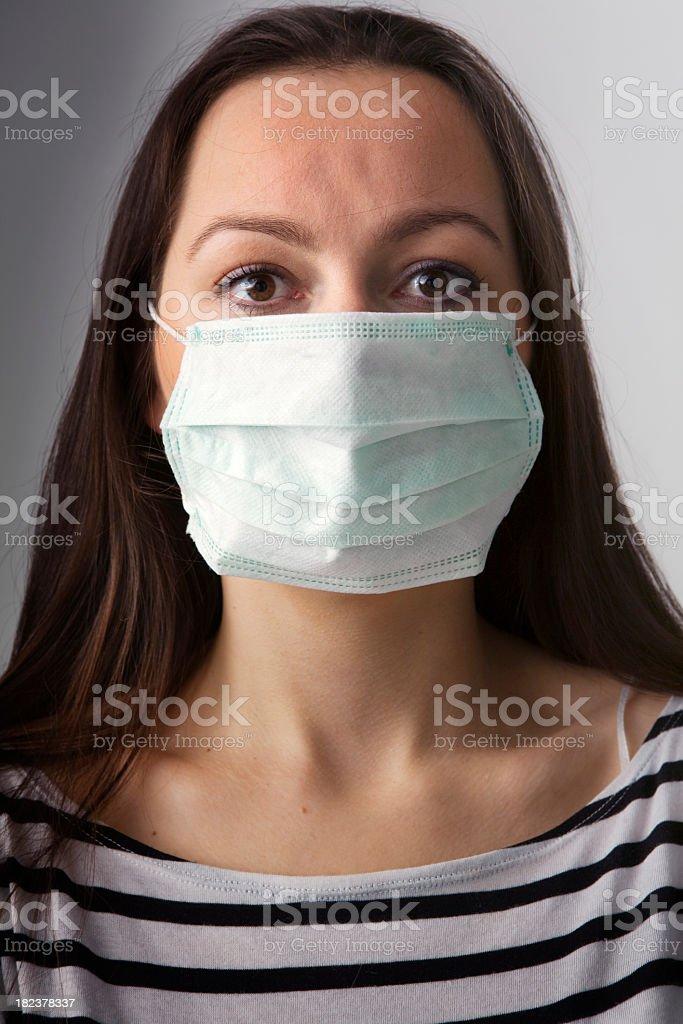 People: Swine Flu Young Woman stock photo