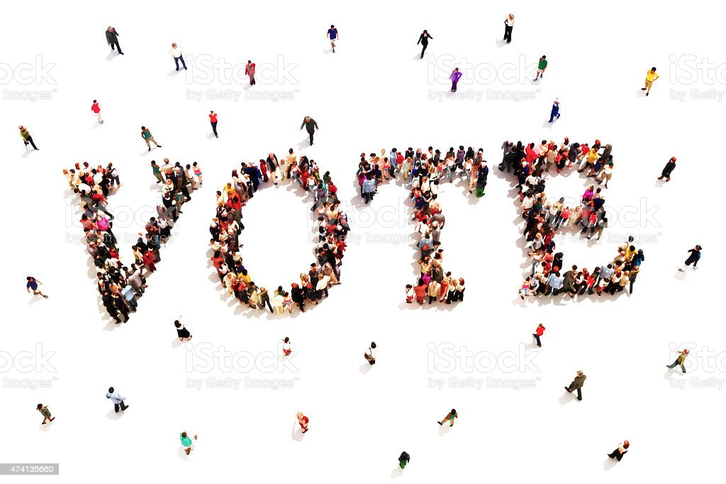 People that vote. stock photo