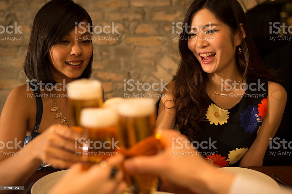 People to make toast in the party stock photo