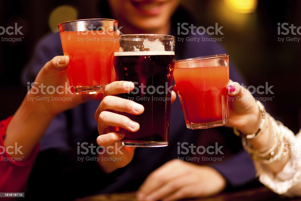 People toasting glasses royalty-free stock photo