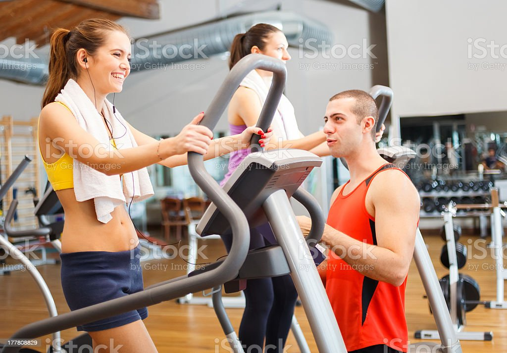 People training in a gym royalty-free stock photo