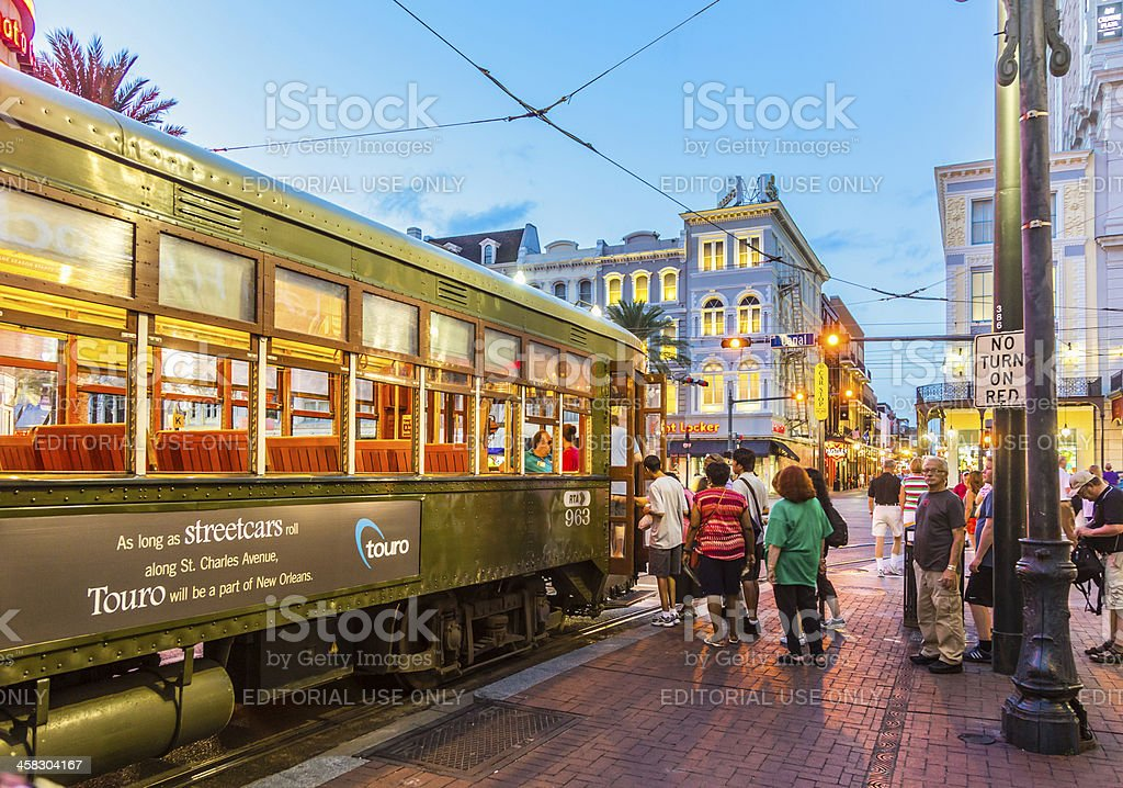 people travel with the famous old Street car stock photo
