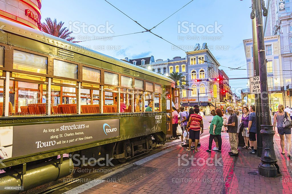 people travel with the famous old Street car royalty-free stock photo