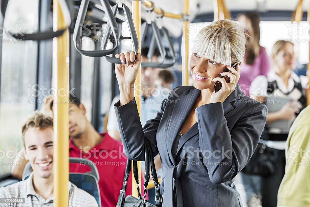 People traveling by bus. royalty-free stock photo