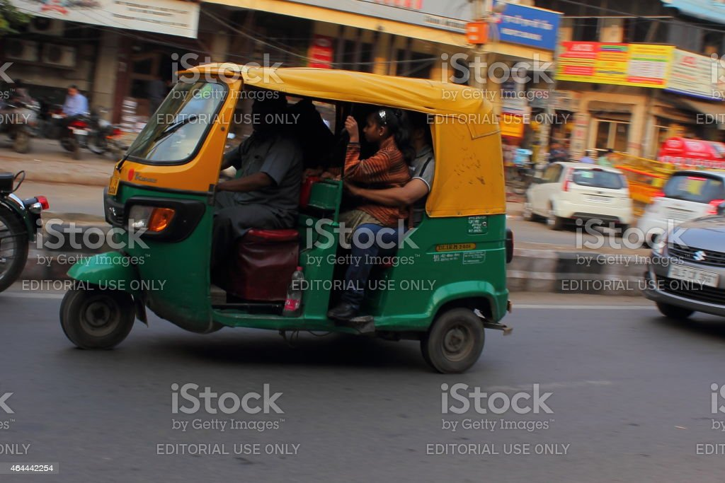 People travelling in an auto stock photo