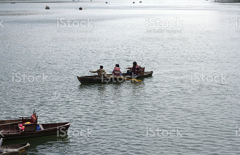 People Travelling in Sea using Boat royalty-free stock photo