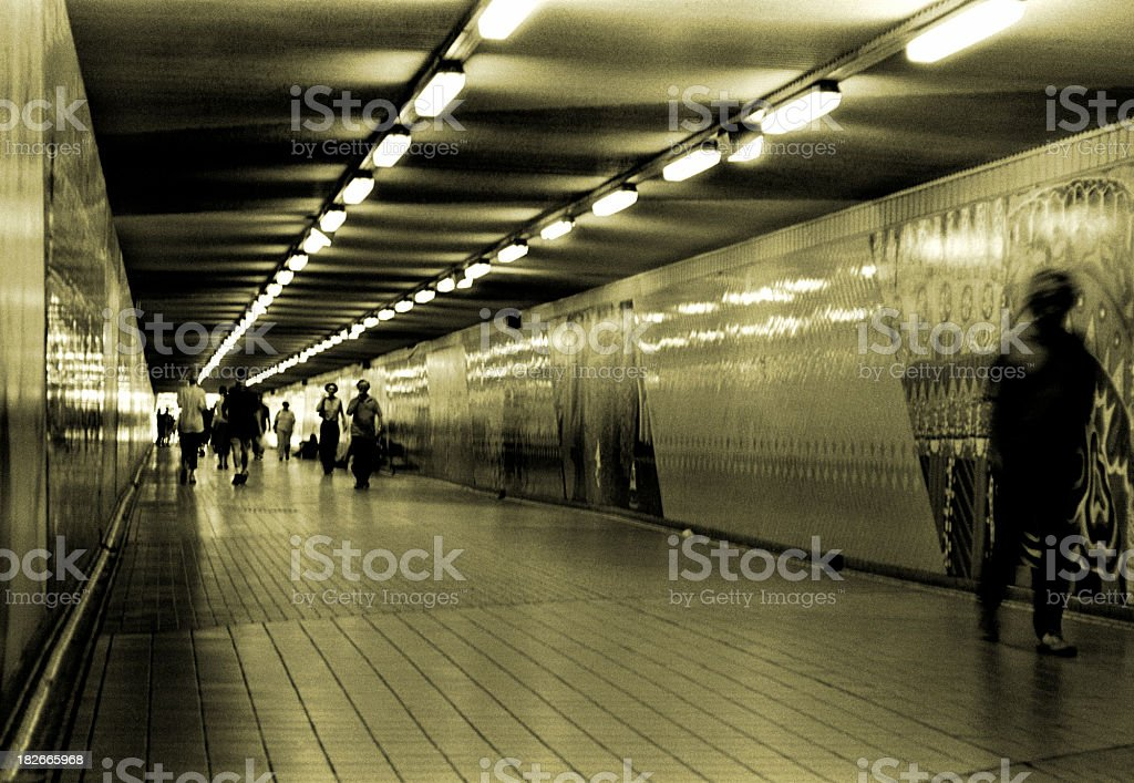 People & Tunnel stock photo