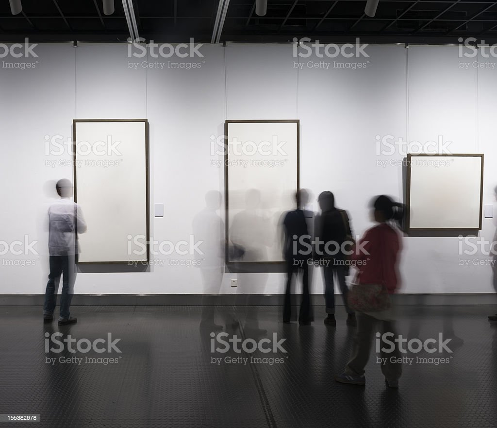 people view arts before form stock photo