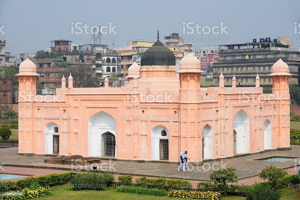 People visit mausoleum of Bibipari in Dhaka, Bangladesh. stock photo