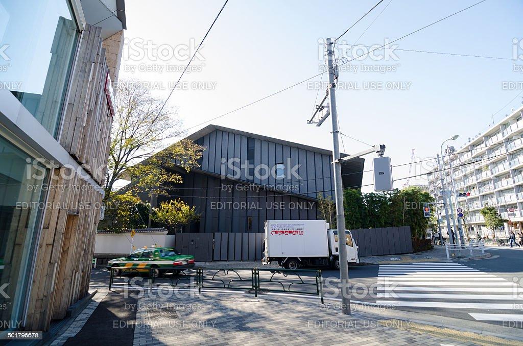 People visit Nezu Museum in Tokyo, Japan stock photo