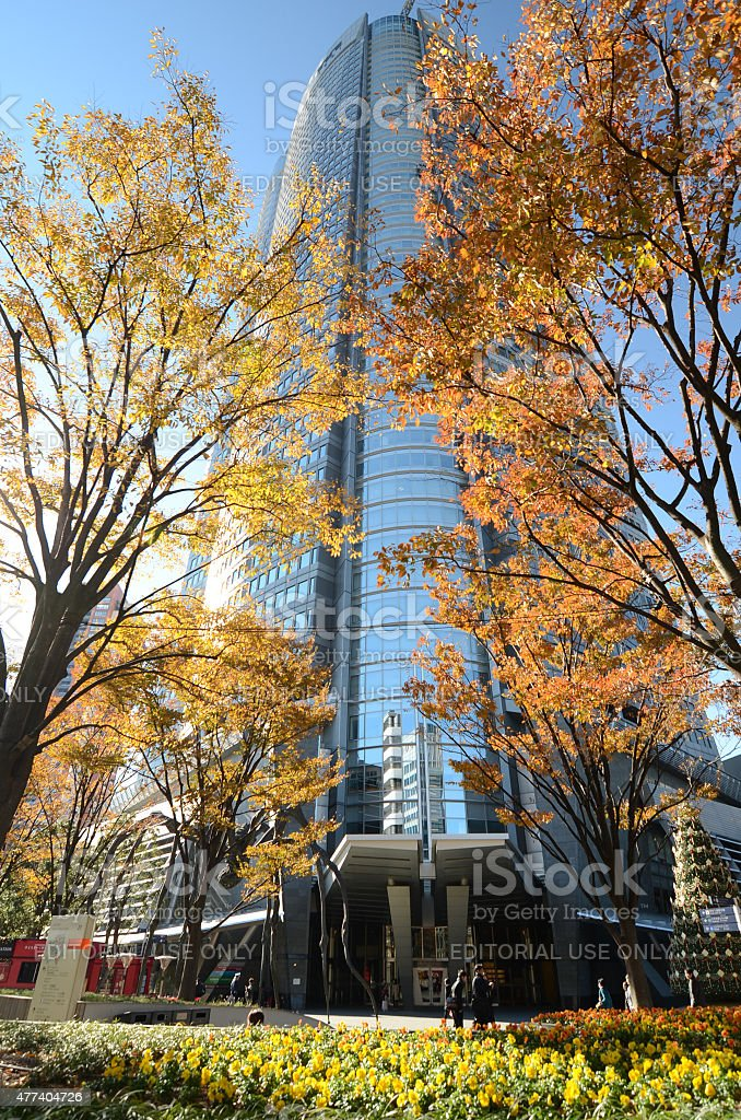 People visit the Mori Tower in Roppongi Hills, Tokyo stock photo