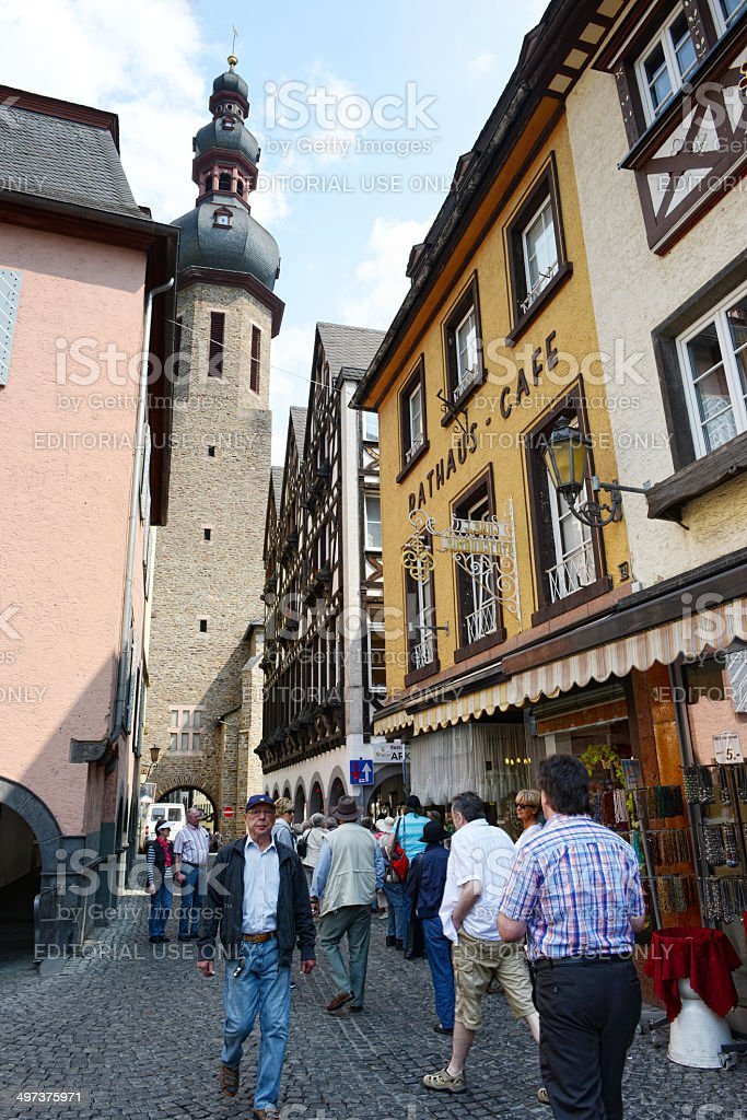 People visiting Cochem (Germany) stock photo