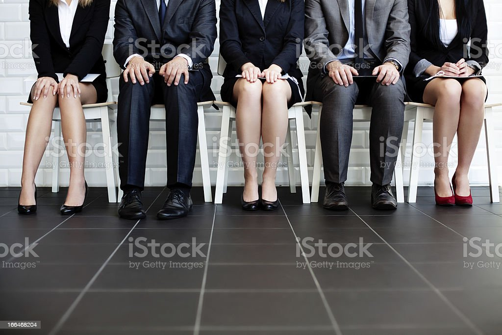People waiting for job interview stock photo