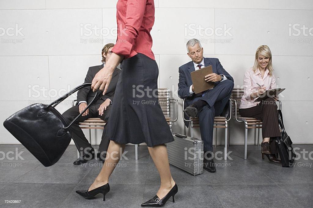 People waiting royalty-free stock photo