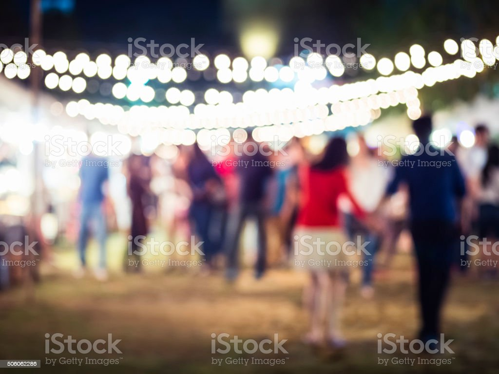 People walking in Festival Event Party background stock photo