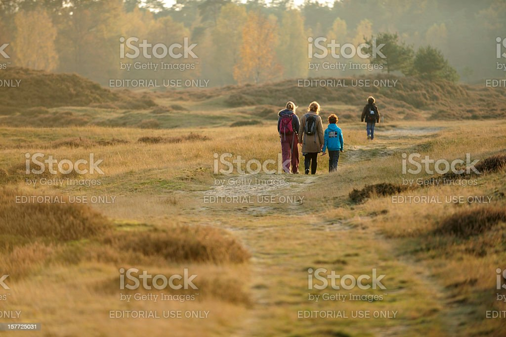People walking in nature royalty-free stock photo